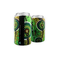 Bunabiri Aboriginal Art Can Cooler - Hunters & Gatherers [Rainforest]