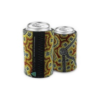 Bunabiri Aboriginal Art Neoprene Can Cooler - Possum Dreaming
