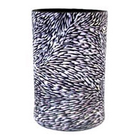Utopia Aboriginal Art Neoprene Can Cooler - Leaves (Black/White)