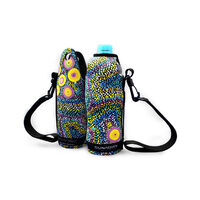 Bunabiri Aboriginal Art Neoprene Water Bottle Cooler - Seven Sisters Dreaming