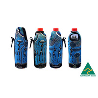 Bunabiri Aboriginal Art Neoprene Water Bottle Cooler - Hunters & Gatherers Reef
