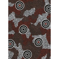 Amicitia (Black)  - Aboriginal design Fabric