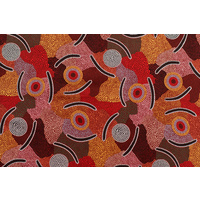 Bulurru Aboriginal Art (2m) Fabric Pack - Man's Ceremony Red