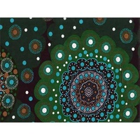 Spirit Circle [Green] - Aboriginal design Fabric CLEARANCE