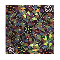 Corroboree (Black) - Aboriginal design Fabric