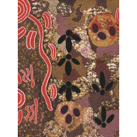 Emu Egg (Red) - Aboriginal design Fabric