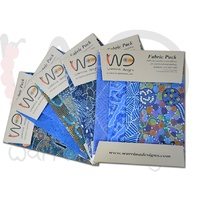 Fabric 4pce Pack [Blue] - Aboriginal Design Fabric