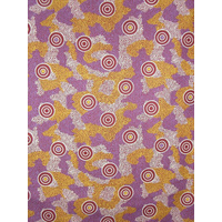 Amicitia Burgundy (Scrap - 1.25m) - Aboriginal design Fabric