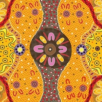 Women's Business [SCRAP 1.8m] - Aboriginal Design Fabric