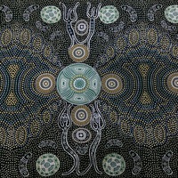 Spirit People - Aboriginal design Fabric