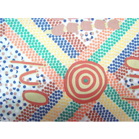 Aboriginal design Fabric - Wankaji (Ash)