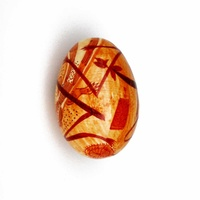 Better World Aboriginal Art Handpainted Decorative Lacquered Egg & Stnd -Mimih Spirits