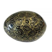 Better World Aboriginal Art Handpainted Decorative Lacquered Egg & Stand - Seven Sisters
