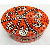 Baribumna Lacquered Pill Box (Oval Shape)