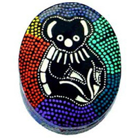 Baribumna Aboriginal Art Koala - Lacquered Ring Dish (Oval)