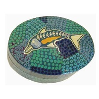 Tobwabba Lacquered Ring Dish - 1 Dophin Oval