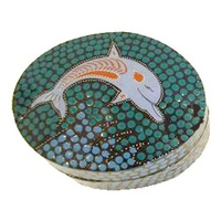 Tobwabba Lacquered Ring Dish - 1 Dophin (Rectangle)