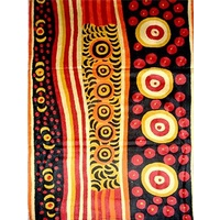 Aboriginal Art Handmade Rug (Chainstitched) (72cm x 120cm) - Iwantja Art by Irene Sundown