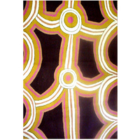 Aboriginal Art Handmade Rug (Chainstitched) (72cm x 120cm)  Ceremony