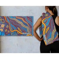 Dezigna Cotton Beach Towel - Songlines Blue