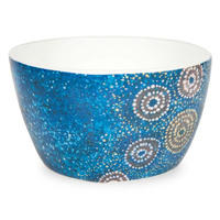 Warlukurlangu China Nut Bowl - Seven Sisters Dreaming