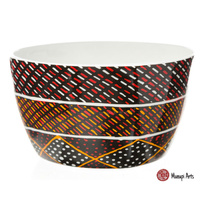 Munupi Aboriginal Art China Nut Bowl - Jillamara