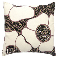 Outstations Aboriginal Cotton Canvas Cushion Cover - Bambilyi