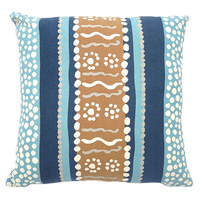 Outstations Aboriginal Cotton Canvas Cushion Covers - Kangaroo Story