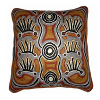 Aboriginal Woollen Pile Cushion Cover - Alice Napanangka Granites
