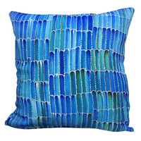 Desert Yam -  Utopia Aboriginal Art Linen Cushion Cover (45cm x 45cm)
