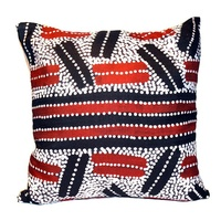 Bush Plum Dreaming - Utopia Poly Linen Cushion Cover (45cm x 45cm)