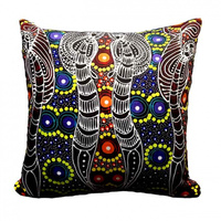 Dreamtime Sisters - Utopia Aboriginal Art Microfibre Cushion Cover