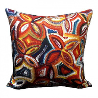 Untitled - Utopia Aboriginal Art Microfibre Cushion Cover