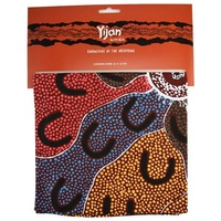 Yijan Aboriginal Art Cushion Cover (45cm x 45cm) - Crow Women Dreaming