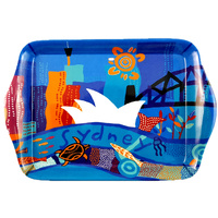 Jijaka Aboriginal Art Melamine Small Tray - Sydney