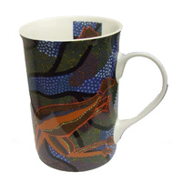 JiJaka Aboriginal Art Bone China Boxed Mug - Kangaroo Spirit