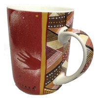 JiJaka Aboriginal Art Boxed Bone China Mug - Bush Dreamtime Kangaroo