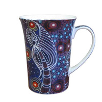 Utopia Aboriginal Art New Bone China Giftboxed Mug - Dreamtime Sisters