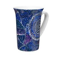 Warlukurlangu Aboriginal Arts Giftboxed China Mug -  Seven Sisters Dreaming