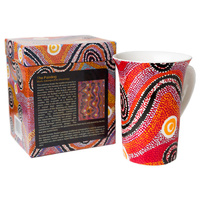 Warlukurlangu Aboriginal Arts Giftboxed China Mug -  Fire Dreaming