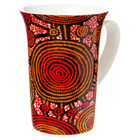 Warlukurlangu Arts Giftboxed China Mug -  Emu Dreaming
