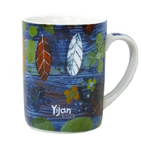Yijan Aboriginal Art Boxed Bone China Mug - Freshwater Crocodile Place