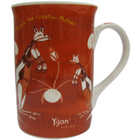 Yijan Aboriginal Boxed Bone China Mug - Korlobarr Kangaroo