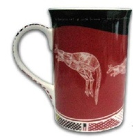 Yijan Aboriginal Art Boxed Bone China Mug - Kangaroo XHatch