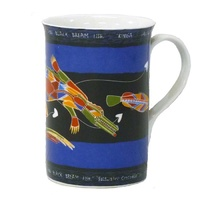 Yijan Aboriginal Art Boxed Bone China Mug - Saltwater Crocodile