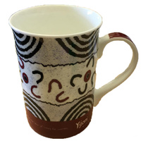 Yijan Aboriginal Art Boxed Bone China Mug - Women's Ceremony