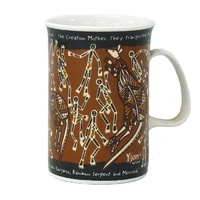 Yijan Aboriginal Art Boxed Bone China Mug - Wallaroo Hunt