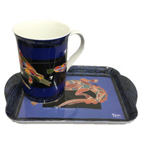 Yijan Mug and Tray Set - Salwater Crocodile