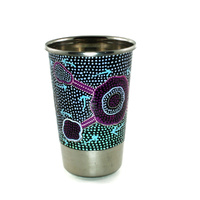 Better World Aboriginal Art Stainless Steel Tumbler - Emu Dreaming
