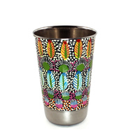 Aboriginal Art Stainless Steel Tumbler - My Country